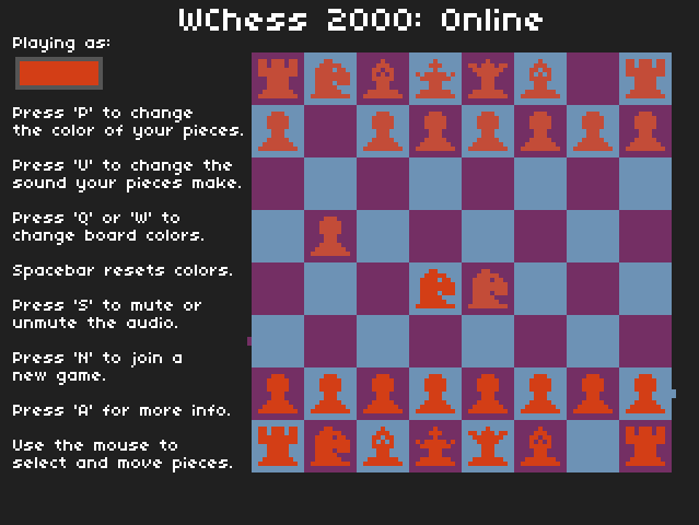 WChess 2000: Online Screenshot