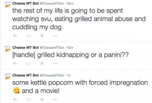 Twitter screenshot of @CheeseMTBot